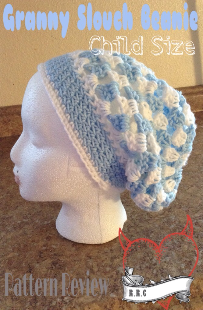 5d5142a0716 Granny slouch Beanie (child size) Pattern review – Raising ...