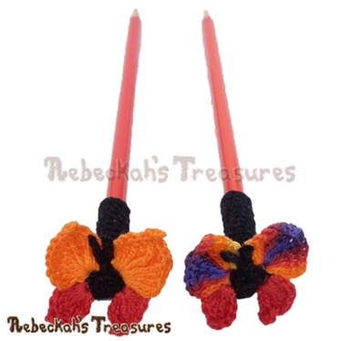 Cute Butterfly Pencil Topper/guest pattern by Rebeckah's Treasures